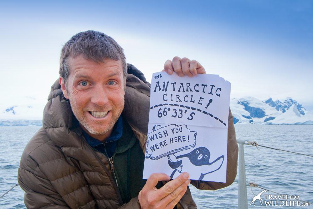 Hal Brindley at the Antarctic Circle