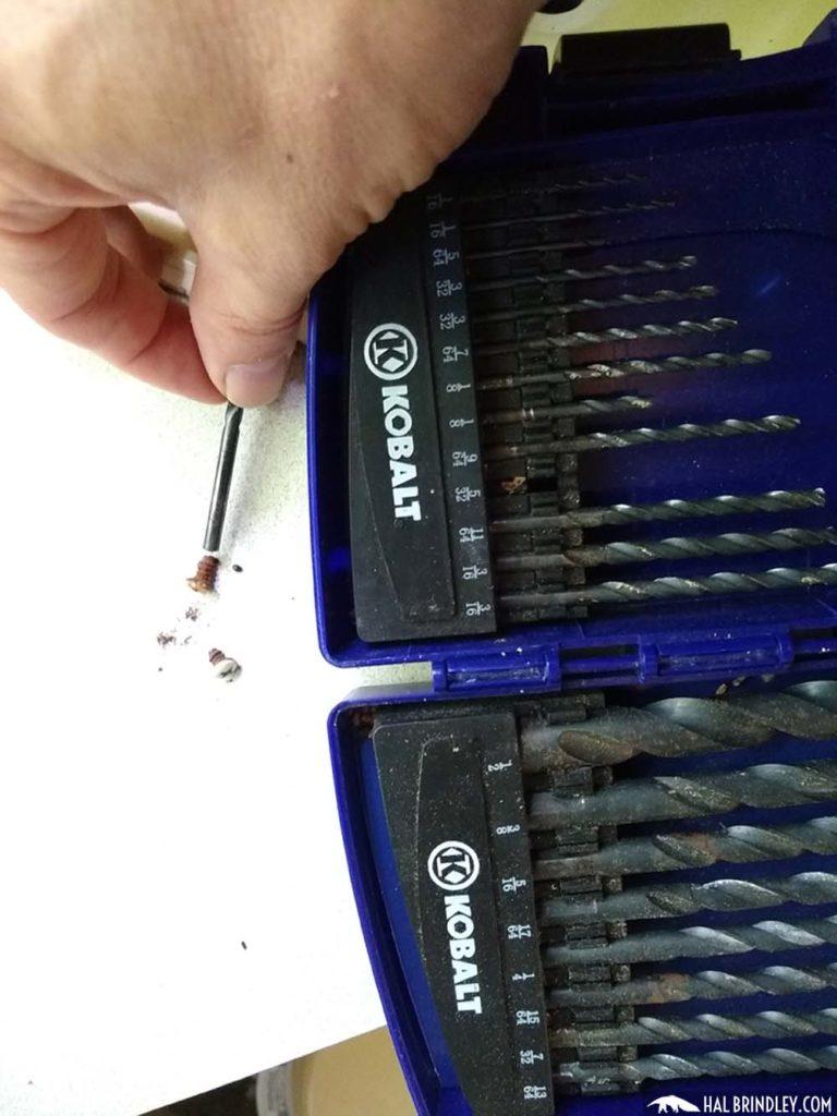 choosing a bit for drilling a screw head