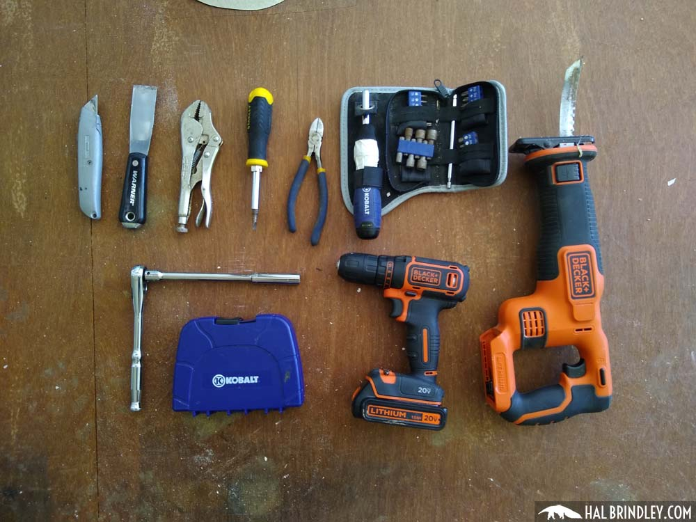 tools for removing RV roof fixtures