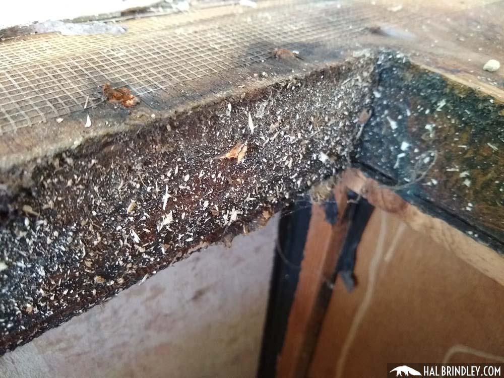 framing around refrigerator vent opening