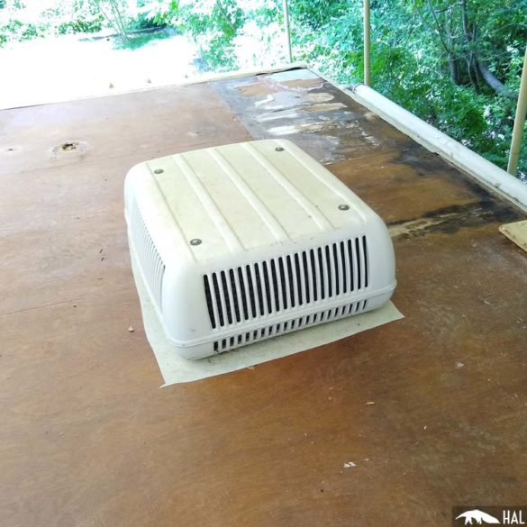 how to remove a Coleman rv air conditioner
