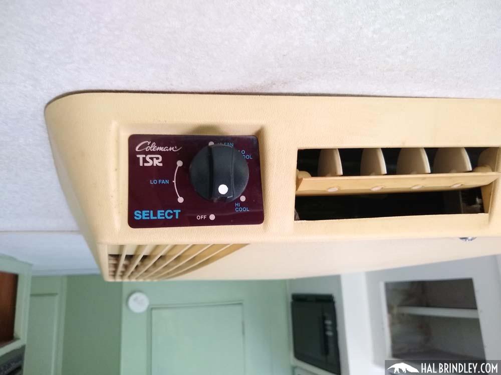 Coleman RV air conditioner selector knob
