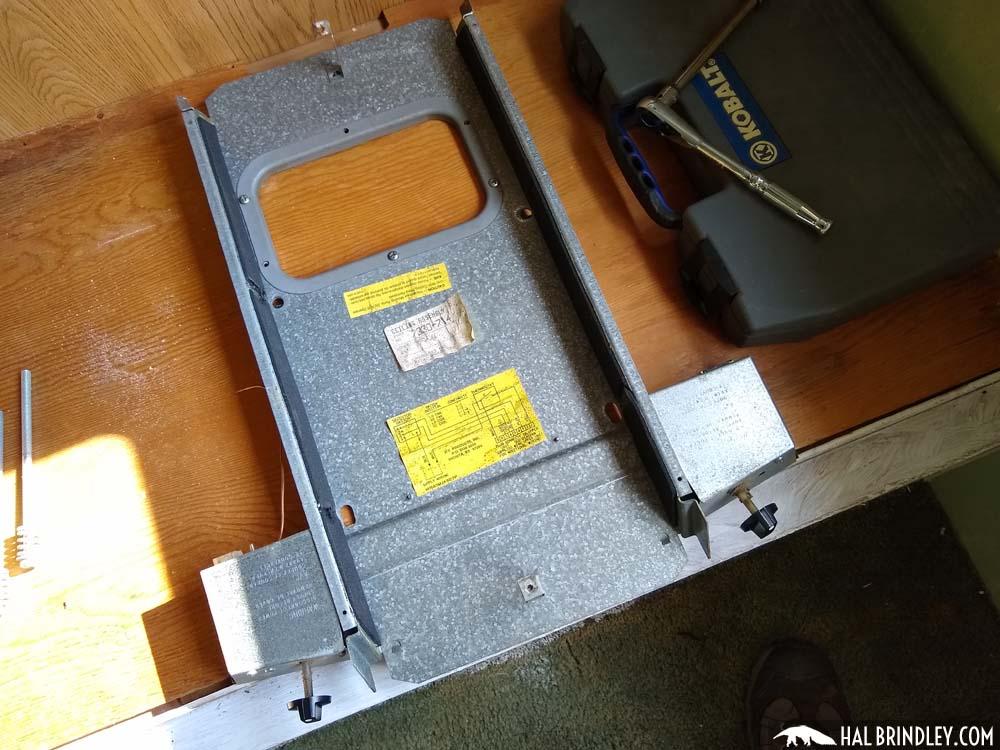 AC control unit reassembled