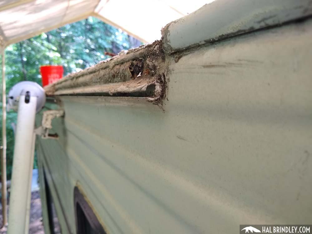 RV awning rail