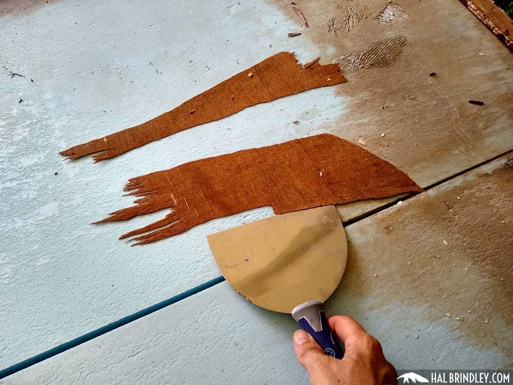scraping foam board