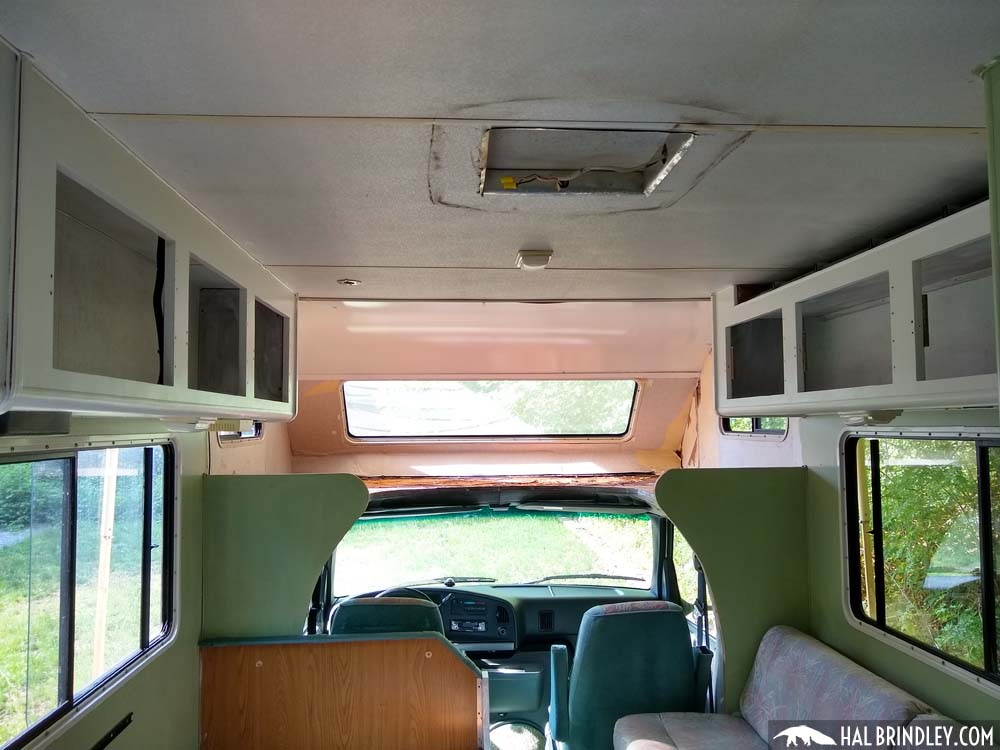 cabinets glued to RV ceiling